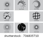 vector set of logo design  | Shutterstock .eps vector #736835710