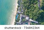 top view tourist resort with... | Shutterstock . vector #736842364
