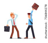business man swinging his... | Shutterstock .eps vector #736844278