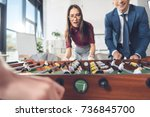 close up shot of businesspeople ... | Shutterstock . vector #736845700