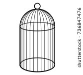 An Empty Cage For A Bird. Black ...