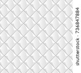 white geometric seamless... | Shutterstock .eps vector #736847884