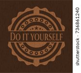 do it yourself badge with...   Shutterstock .eps vector #736861240