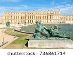 the royal palace of versailles... | Shutterstock . vector #736861714