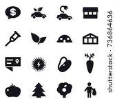16 vector icon set   money... | Shutterstock .eps vector #736864636
