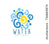 hand drawn patterned whirlpool... | Shutterstock .eps vector #736869874
