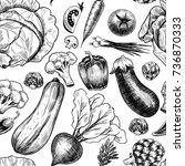 fresh vegetables . vector... | Shutterstock .eps vector #736870333