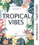 exotic tropical banner ... | Shutterstock .eps vector #736872490