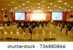 blur conference and  meeting in ... | Shutterstock . vector #736880866