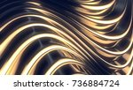 wave band surface. abstract... | Shutterstock . vector #736884724