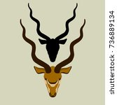 Antelope  Head  Vector...