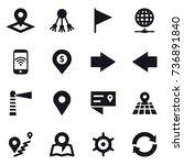 16 vector icon set   pointer ... | Shutterstock .eps vector #736891840