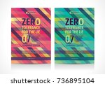 multipurpose flyer template...   Shutterstock .eps vector #736895104