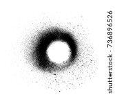 vector circle shape black... | Shutterstock .eps vector #736896526
