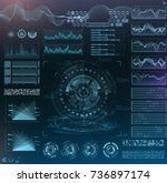 vector futuristic interface hud ... | Shutterstock .eps vector #736897174