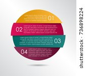 infographic template for... | Shutterstock .eps vector #736898224