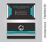 business vector card creative... | Shutterstock .eps vector #736900150