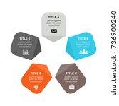 vector circle arrows... | Shutterstock .eps vector #736900240
