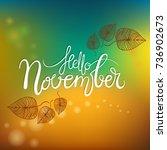 hello november lettering  | Shutterstock .eps vector #736902673