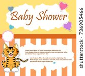 baby shower design with cute... | Shutterstock .eps vector #736905466