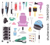 hairdressing salon barbershop... | Shutterstock .eps vector #736905910
