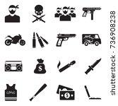 gang icons. black flat design.... | Shutterstock .eps vector #736908238
