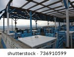 a cafe from sea side which has... | Shutterstock . vector #736910599