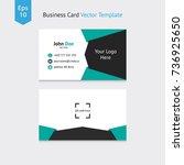 modern and creative design of... | Shutterstock .eps vector #736925650
