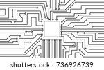 tracks of the printed circuit... | Shutterstock .eps vector #736926739