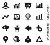 16 vector icon set   pointer ... | Shutterstock .eps vector #736929454