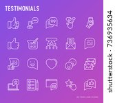 testimonials and quote thin... | Shutterstock .eps vector #736935634
