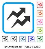 trends arrows icon. flat gray... | Shutterstock .eps vector #736941280