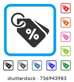 discount tags icon. flat gray... | Shutterstock .eps vector #736943983