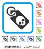 death skull tag icon. flat grey ...