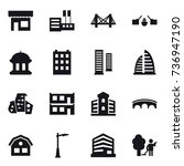 16 vector icon set   shop ... | Shutterstock .eps vector #736947190
