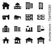 16 vector icon set   home ... | Shutterstock .eps vector #736950280