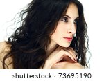 portrait of the beautiful lady | Shutterstock . vector #73695190
