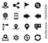 16 vector icon set   pointer ... | Shutterstock .eps vector #736952650