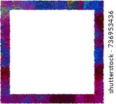 multicolor photo frame and... | Shutterstock . vector #736953436