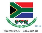 official vector flag of south... | Shutterstock .eps vector #736953610