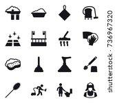 16 vector icon set   factory... | Shutterstock .eps vector #736967320