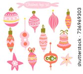 set of vector hand drawn...   Shutterstock .eps vector #736969303