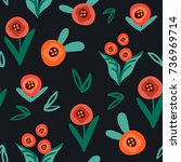 vector lovely seamless pattern... | Shutterstock .eps vector #736969714