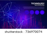 abstract network background.... | Shutterstock .eps vector #736970074