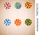 lollypops. vector illustration | Shutterstock .eps vector #736976173