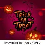 halloween trick or treat... | Shutterstock .eps vector #736976959