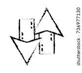figure arrows loading in... | Shutterstock .eps vector #736977130
