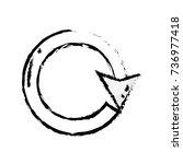 figure arrow circle sign... | Shutterstock .eps vector #736977418