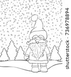 christmas background with santa ... | Shutterstock .eps vector #736978894