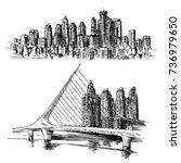 puerto madero buenos aires... | Shutterstock .eps vector #736979650